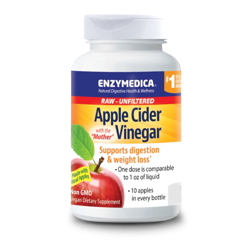 Enzymedica Apple Cider Vinegar 120 Capsules
