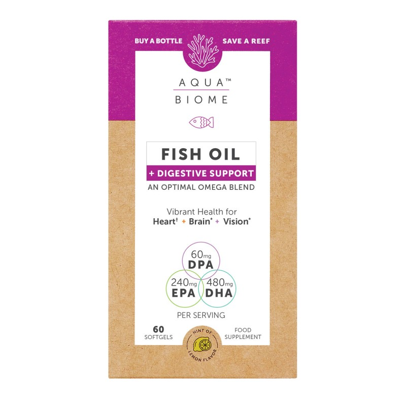 Aqua Biome Fish Oil Digestive Support 60 Softgels