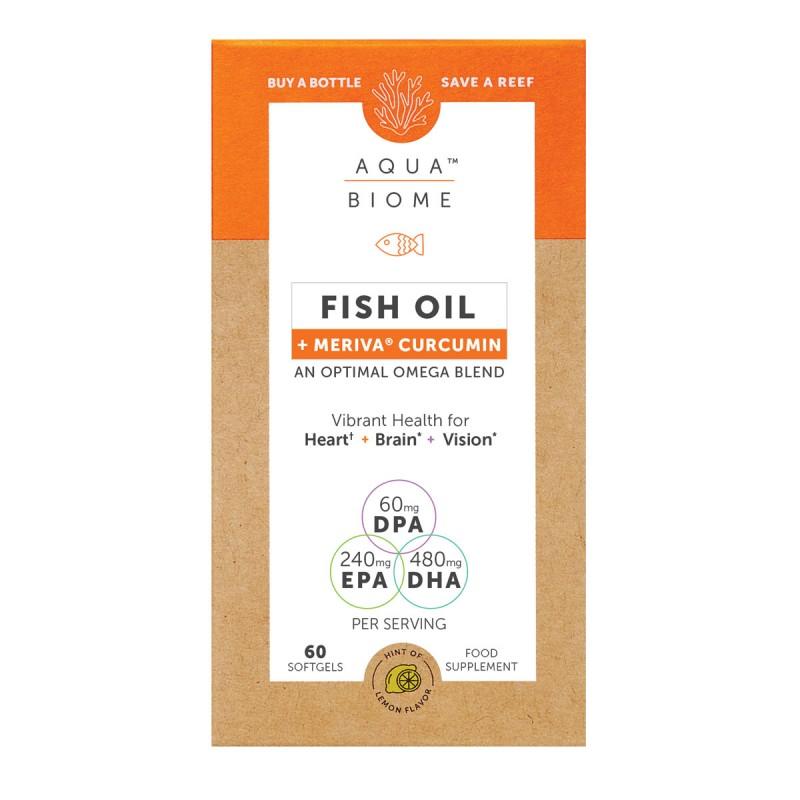 Aqua Biome Fish Oil Meriva Curcumin 60 Softgels