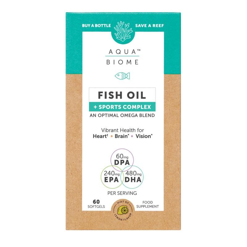 Aqua Biome Fish Oil Sports Performance 60 Softgels