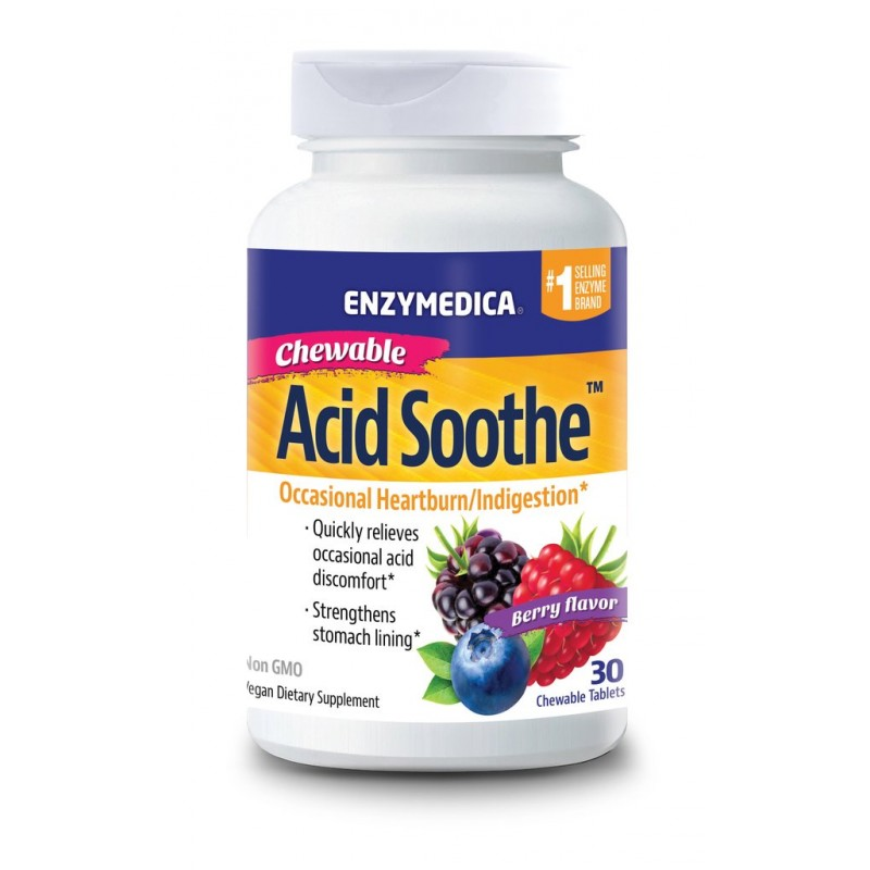Enzymedica Acid Soothe Chewable 30 Tablets