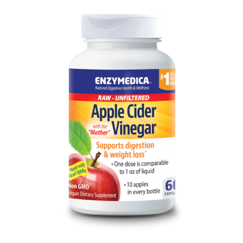 Enzymedica Apple Cider Vinegar 60 Capsules