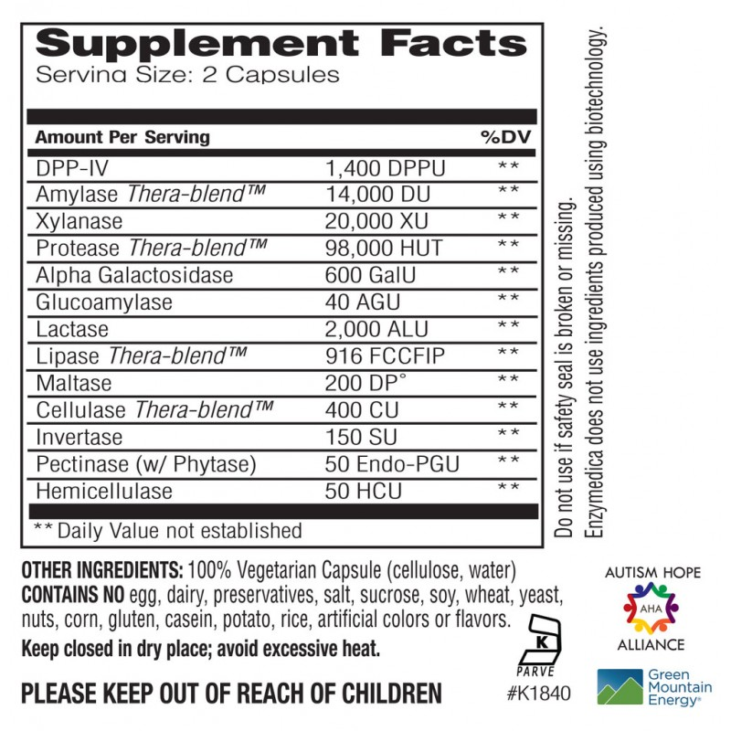 Enzymedica Digest Spectrum 240 Capsules
