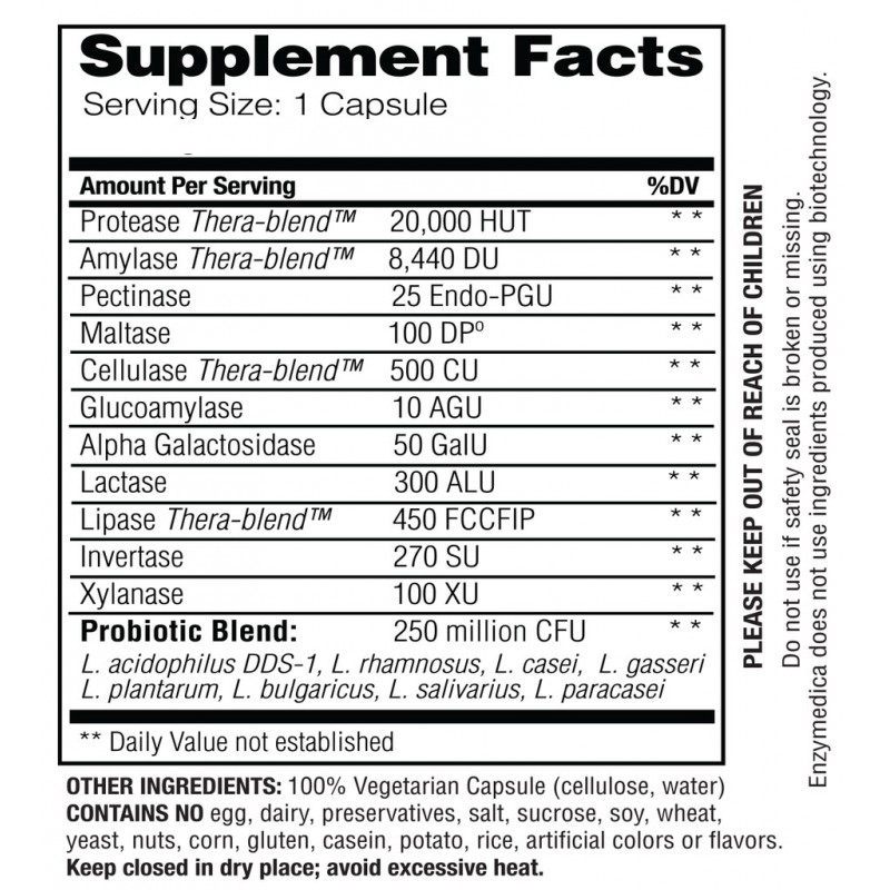 Enzymedica Digest Complete + Probiotics 90 Capsules