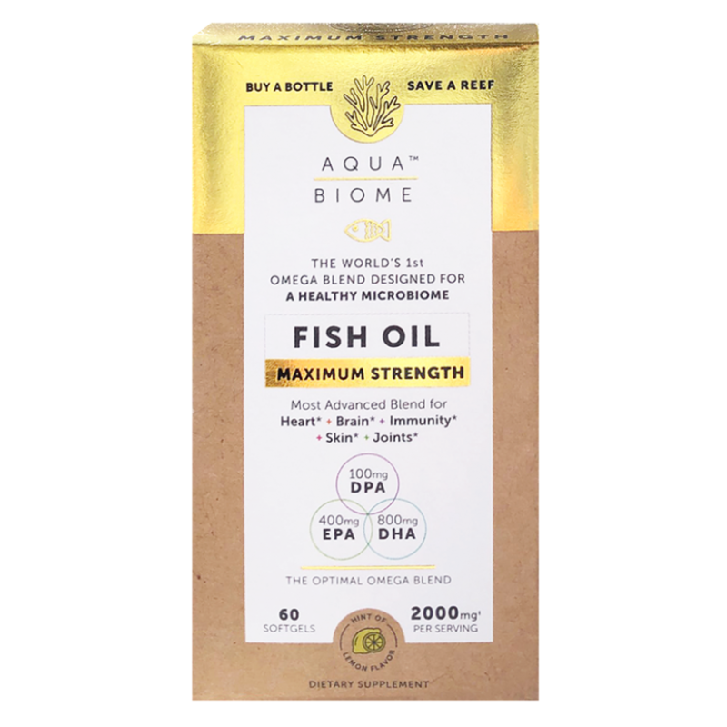 Aqua Biome Fish Oil Maximum Strength 120 Softgels