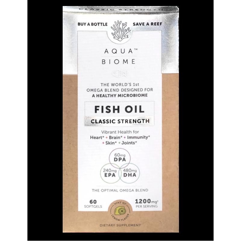 Aqua Biome Fish Oil Classic Strength 60 Softgels